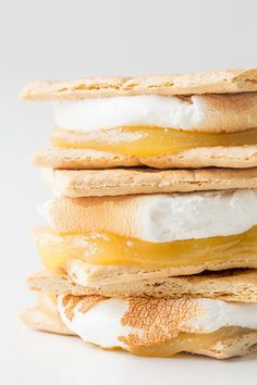 Use lemon curd instead of chocolate.   39 S'mores Hacks That Will Change Your Life