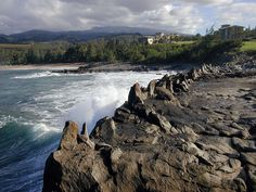 Dragon's Teeth are located near the Ritz Carlton Resort in Kapalua, Maui, Hawaii They were formed when the ocean waves and salt spray eroded lava flows.