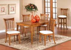 Bayberry Oak Rectangle Dining Set 4766-RDNB