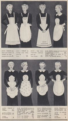 maids uniform aprons MoreHair ideas for Servants maids uniform apronsfor Servants maids uniform aprons 1930s Fashion, Vintage Fashion, Classy Fashion, Modest Fashion, Retro Fashion, Annie Costume, Victorian Maid, Maid Outfit, Fashion History