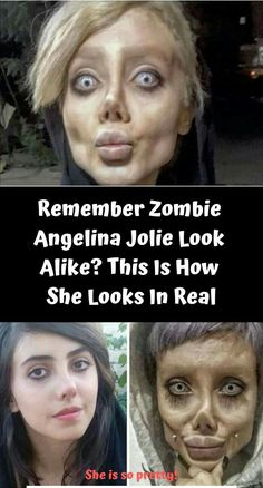 Remember Angelina Jolie's Lookalike Who 'Had A Plastic Surgery' To Resemble Her? She Faked It Remember Angelina Jolie's Lookalike Who 'Had A Plastic Surgery' To Resemble Her? See her Leak photos prove how she looks in real Le Jolie, Angelina Jolie, She Drama, Digital Playground, Celebrity Memes, Life Cover, Zombie Girl, Look Alike, Celebs