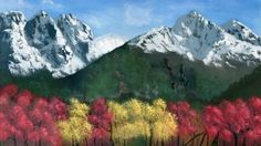 Autumn Mountainscape - This was a study to see if I could create a mountain-scape in acrylic rather than oils which I'm used to. I used a photo of the Grand Teton mountain range in the fall as inspiration. Although the mountains were loaded with snow, there was still green near the base which was interesting.
