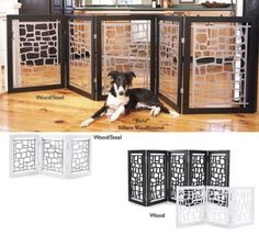 custom petgates | Wood and Metal Modern Dog Gate... I want one of these!! by ~Pickles~