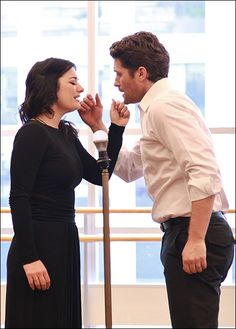 Laura Michelle Kelly and Matthew Morrison