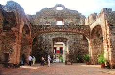 The arch in this ruined church helped determine construction of a canal in # Panama--because it would never have survived an earthquake.  #Casco #Viejo is  the old city -contact Panama Roadrunner to arrange your secure transport!