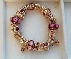 Pandora Jewelry OFF! Pandora Bracelet Charms, Pandora Jewelry, Beaded Rings, Beaded Bracelets, Bangles, Pandora Gold, Stylish Jewelry, Bracelet Designs, Pandora Story