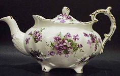 "English Hammersley Bone China ""Victorian Violets"" Teapot"