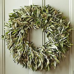 OLIVE WREATH FROM WILLIAMS-SONOMA