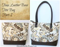 Let's make it lovely: Faux Leather Base Tote Bag