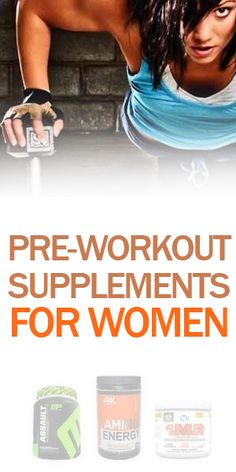 Best pre-workout supplements for women! Get energized for your workout for the best results! #fitness #nutrition #gym