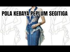 16 ideas for sewing tops for women jeans Pola Kebaya Kutubaru, Kebaya Brokat, Easy Sewing Patterns, Dress Patterns, Sewing Ideas, Sewing Projects, Kebaya Peplum, Model Kebaya, Tandoori Masala