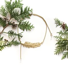 Nature is what we love the most, necklace from new collection THUJA by Anna Orska.