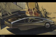 So far as I can tell, car stylist, industrial designer and visualization renderer of future environments Syd Mead (born never had any. Blade Runner, Syd Mead, Car Design Sketch, Car Sketch, Futuristic Art, Futuristic Vehicles, Futuristic Architecture, Future Car, Automotive Design