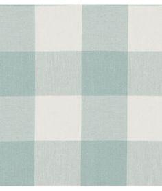 Shop P. Kaufmann Buffalo Check Seabreeze Fabric at onlinefabricstore.net for $16.05/ Yard. Best Price & Service.
