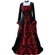 Vestido medieval red brocade - D-Gótico http://www.d-gotico.com/vestidos-de-novia/235-vestido-medieval-red-brocade.html