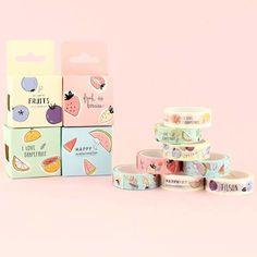 Fresh Fruits Washi Masking Tape Set - 2 pcs