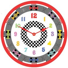 racing car clock by cute-clocks | notonthehighstreet.com