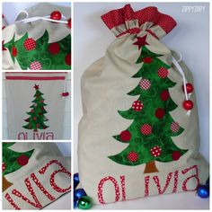 Thanks for all the entry's in my Santa Sack Giveaway I never tire of making these, sitting, stitching, thinking about the children they are...