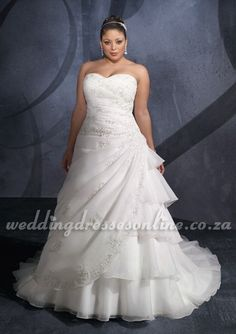 Sweetheart A-Line 2012 Plus Size Wedding Dress