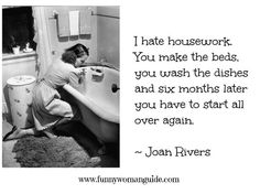 housework, dishes, beds, moms