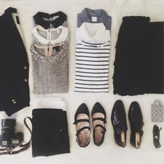 stripes, collars, black.