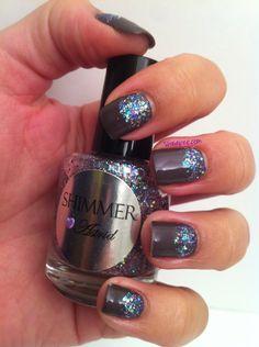 Bling bling with shimmer polish