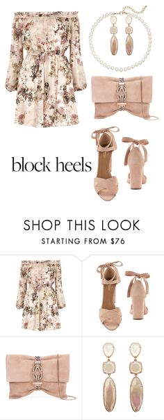 """Untitled #2138"" by nadia-n-pow on Polyvore featuring River Island, Aquazzura, Jimmy Choo, Saks Fifth Avenue and blockheels"