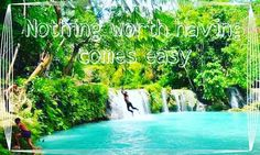 """""""Nothing worth having comes easy"""" - Theodore Roosevelt  #theodoreroosevelt #theodore #roosevelt #paradise #inspiringquote #inspire #quotes #quote #quoteoftheday #forrest #lagoon #waterfall #inspirationalquote #scenery #aesthetic #water by lifeasquoted"""