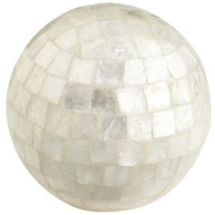 Mosaic Capiz Shell Sphere - an accent to brighten up any room