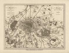 Plan der Stadt Paris mit Ihren Umliegenden Gegenden / Plan de la Ville de Paris avec ses Environs (Plan of the City of Paris with its Surroundings) Jos. Lantz (German) 1805