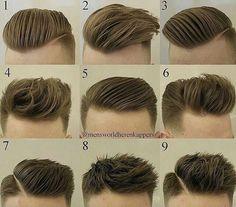 All kinds of new trendy hair cuts, hair styles, beard styles, trendy. Cool Hairstyles For Men, Hairstyles Haircuts, Haircuts For Men, Wedding Hairstyles, Hair And Beard Styles, Short Hair Styles, Gents Hair Style, Hair Styler, Moustache