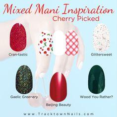 Nail Color Combos, Nail Colors, Aloha Nails, Street Game, Cherry Nails, Nail Tape, Diy Manicure, Manicures, Minimalist Nails