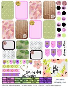 Sabrina Davidson: Free Hello Spring Happy Planner Stickers