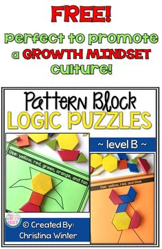 FREE sample! This set of interactive pattern block logic puzzles will have kids begging for more! Easy to use, these brain teasers are a great math center that will keep kids engaged while improving your students' skills needed to solve logic tasks as well as developing their visual discrimination skills.These puzzles are perfect to help your students learn to persevere through challenging tasks.