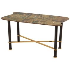 Extraordinary Hand-Painted Low Table by Decalage, Turin, 1956 | From a unique collection of antique and modern coffee and cocktail tables at https://www.1stdibs.com/furniture/tables/coffee-tables-cocktail-tables/