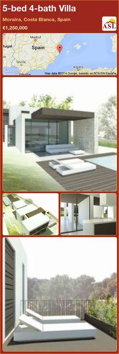 5-bed 4-bath Villa in Moraira, Costa Blanca, Spain ►€1,250,000 #PropertyForSaleInSpain