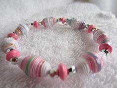 Handmade paper bead bracelets by Margabeada Girl - Margabeada Girl