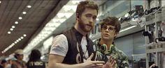 El ACTOR PABLO RIVERO en un momento del rodaje.Captura tráile/rmaking of. http://www.viral-lapelicula.com