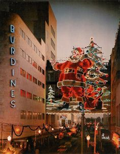 Burdines' Christmas display, Miami, c.1960 (via) This is the coolest neon sign ever !! I love it !