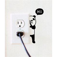 Panda Plug  Free Shipping! Tattoo Decor