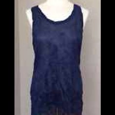 Free People Top XS This is a blue sparkle Free People tank top in size XS Free People Tops Tank Tops