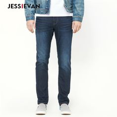 Jessie Van Mens Winter Stretch Thicken Jeans with Warm Fleece High Quality Denim Jean Pants Trousers Size 28-34-38 men model * Find similar products on AliExpress website by clicking the image