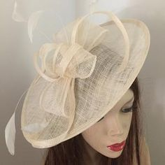 Fascinator Hat silver Grey Saucer headpiece on hairband   Etsy Sombreros Fascinator, Fascinator Hats, Headpiece, Wire Headband, Silver Headband, Silver Fascinator, Hat For The Races, Grey Hat, Mannequin Heads