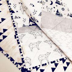 Modern Baby Quilt for Sale, Monochrome, Handmade Baby Blanket Quilt, Gender Neutral Baby Quilt by WildLittles on Etsy
