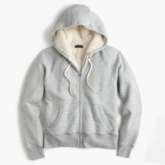 J.Crew Shearling Hoodie (€145) ❤ liked on Polyvore featuring tops, hoodies, j crew hoodie, white hoodies, white hoodie, white hooded sweatshirt and j crew hoodies