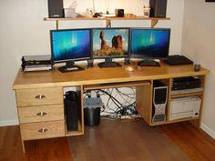 large computer desk - Google Search
