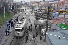 Budapest egykor és most klasszul egymásba mosva Old Pictures, Old Photos, Budapest Hungary, Historical Photos, Street View, Marvel, History, City, Landscapes