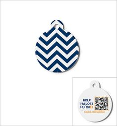 RuMe QR Code Pet ID Tag With URL Registration System, Navy Recycled Pet ID Tag Aluminum Quantity of 1 >>> Startling review available here  : Dogs ID tags and collar accessories