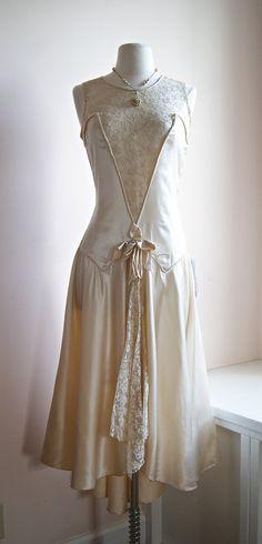 Vintage 1920's wedding dress.