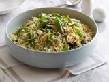 Tri-Colore Orzo Recipe - this is my favorite summer side pasta salad!! So easy to make too! If you can't find pine nuts at your food store, it's just as good with toasted almond slivers :)